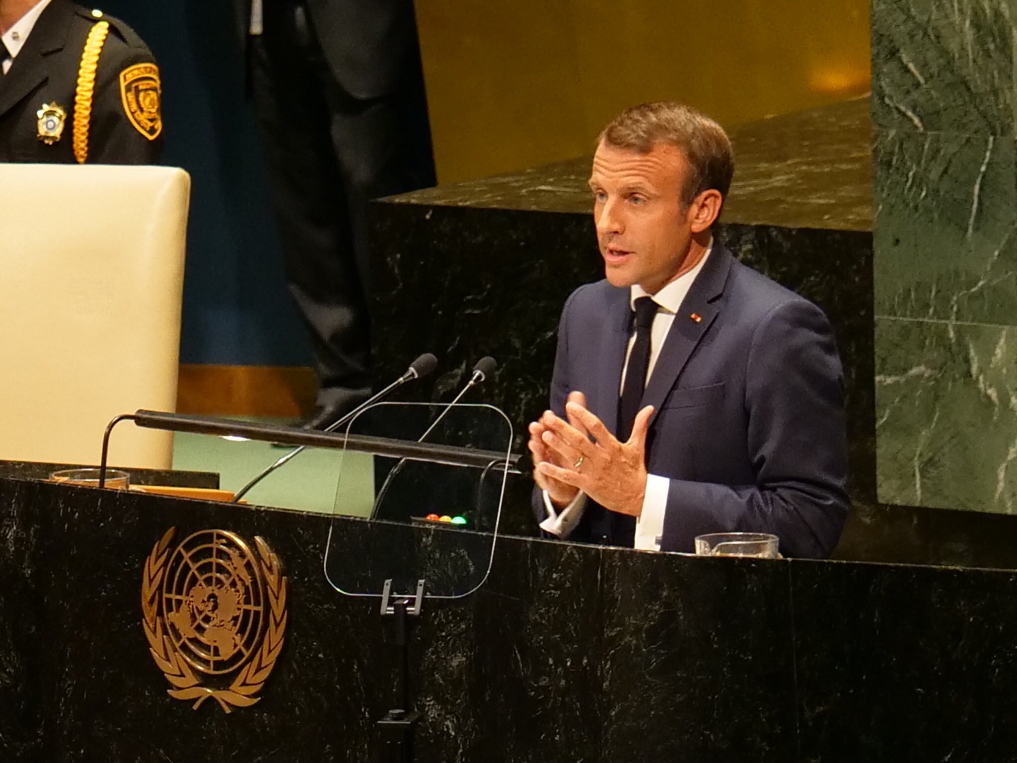 Speech Of French President Emmanuel Macron At The 74th United Nations La France Aux Philippines Et En Micronesie