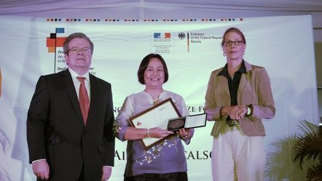 Mary Aileen D. Bacalso receives the Franco-German Prize for Human Rights (...)