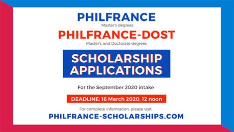 PhilFrance Scholarships for the 2020 Academic Year