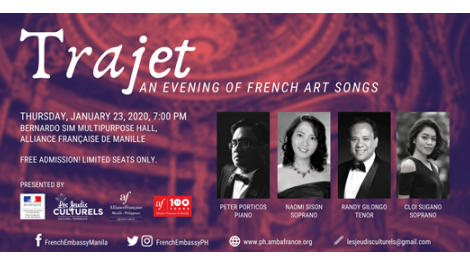 Cultural Thursdays presents Trajet: An evening of French art (...)